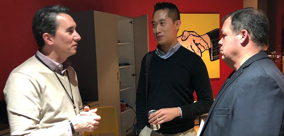 Hubert Zajicek, MD with Khang Nguyen and Allen Crowley.