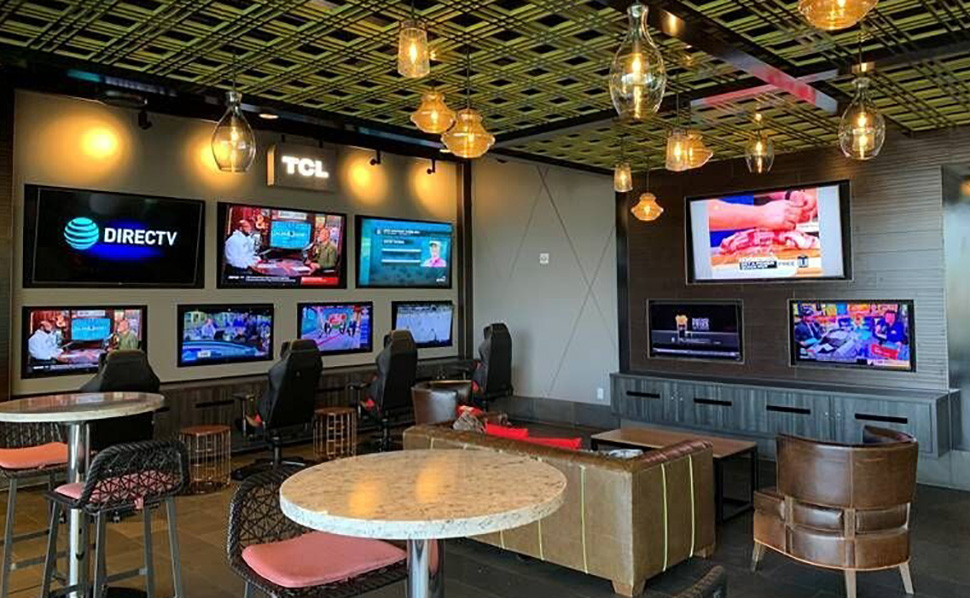 The new esports TCL Lounge debuted at Topgolf Las Vegas. [Image: Topgolf]