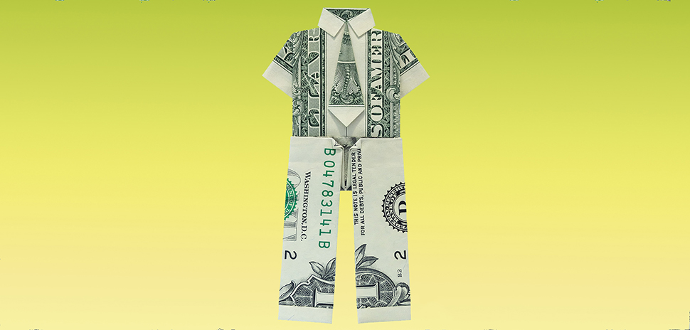 Money Origami · A Piece Of Origami Clothing · Origami on Cut Out + Keep | 464x970