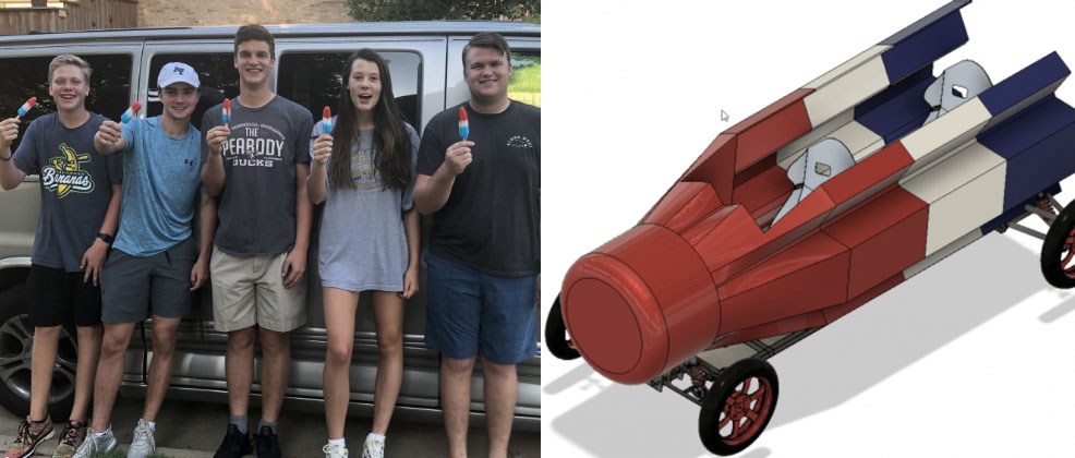 A group of high-schoolers out to set the world record for the fastest Bomb Pop!, according to Red Bull Soapbox Race organizers.