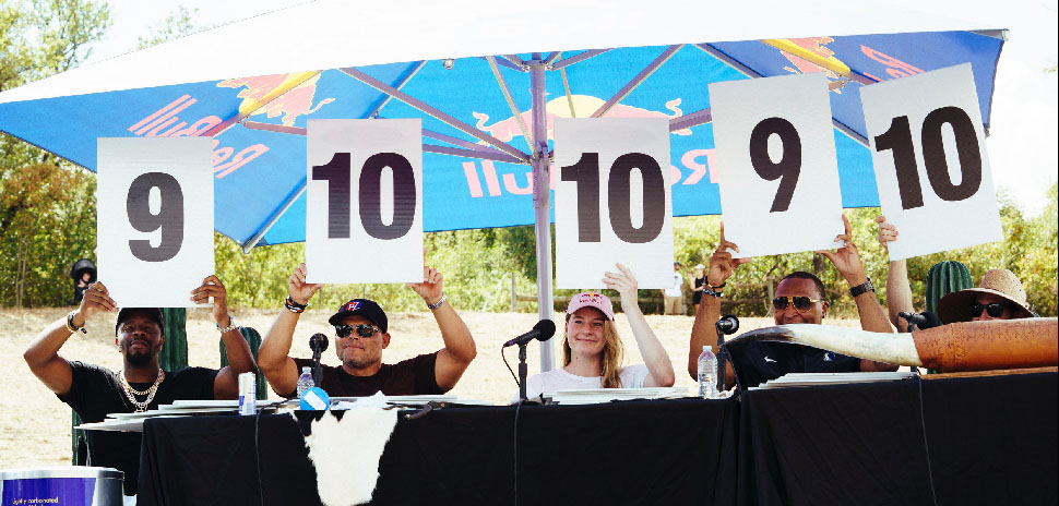 The celebrity judges at Red Bull Soapbox Race Dallas 2019 at Austin Ranch, The Colony