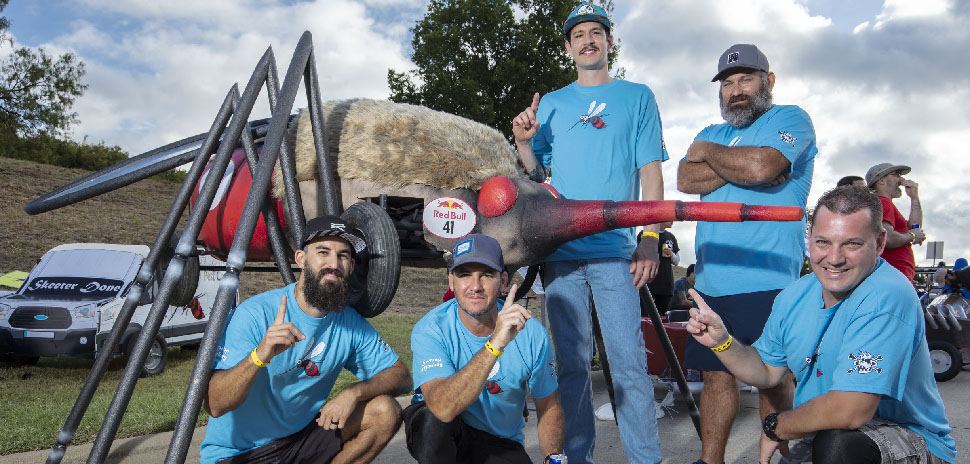 Three's a charm for the skeeters at Red Bull Soapbox Race Dallas 2019 at Austin Ranch, The Colony