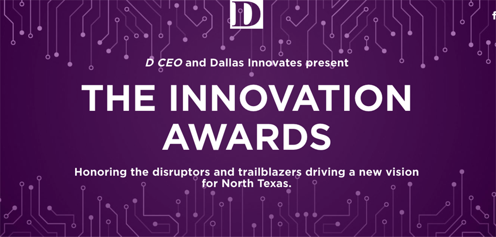 D Ceo and Dallas Innovates The Innovation Awards 2020