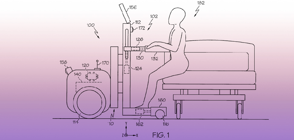 An illustration from Toyota's newly granted patent for a physical assistive robotic system. [Image: USPTO, Patent No. 10478365]