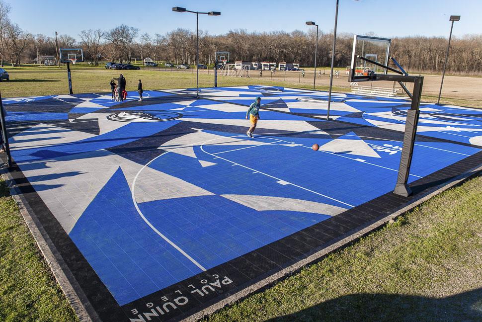 Paul Quinn Has A New Basketball Court Courtesy Of The Dallas Mavs