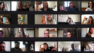 a virtual wine down Wednesday at Common Desk