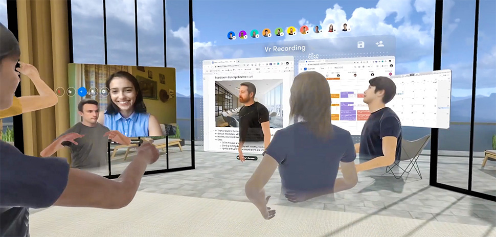 M2 Studio's Michael Potts uses Spatial for augmented reality and business collaboration. The AR/VR tool can turn any room into a 3D workspace, according to Spatial. [Image: Spatial.io via M2 Studio]