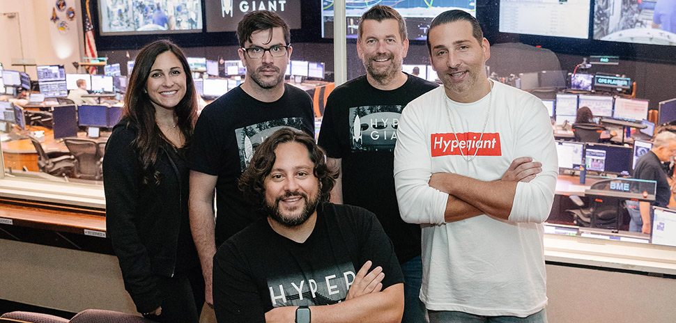 Ben Lamm with members of the Hypergiant team. [Photo: John Davidson]