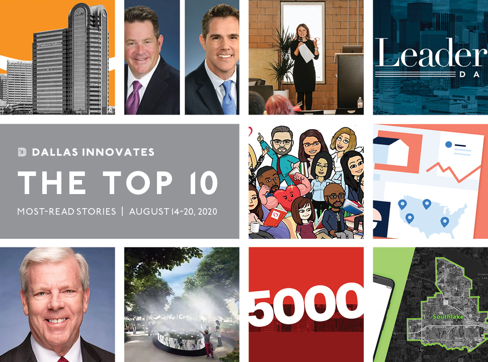 Dallas Innovates Top 10 stories August 2020