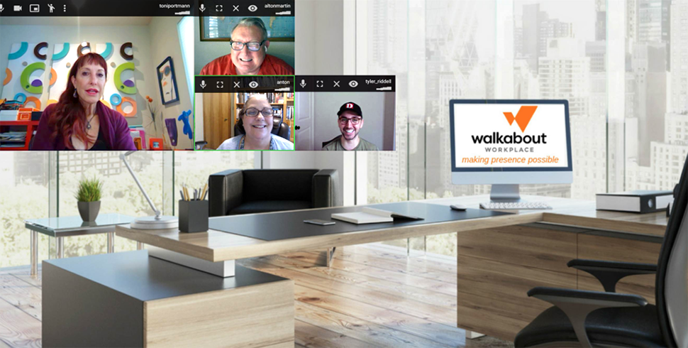 Walkabout Workplace CEO Toni Portmann, upper left. [Image via Walkabout Workplace]