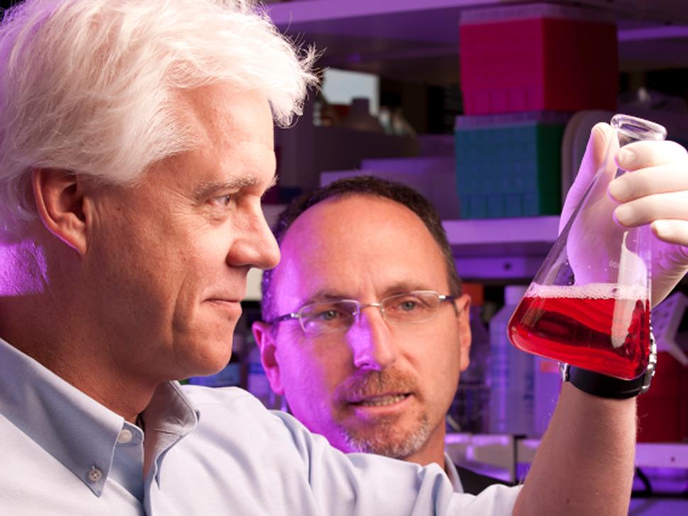 UT Southwestern's Dr. Eric Olson with Dr. Jay Schneider [Photo: UTSW]