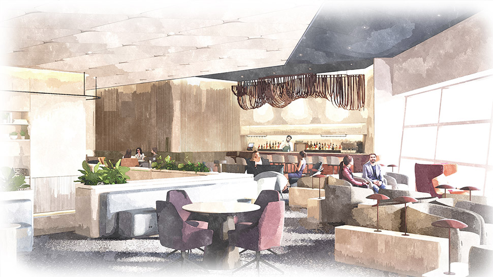 the capital one lounge at dallas fort worth international airport lounge terminal D