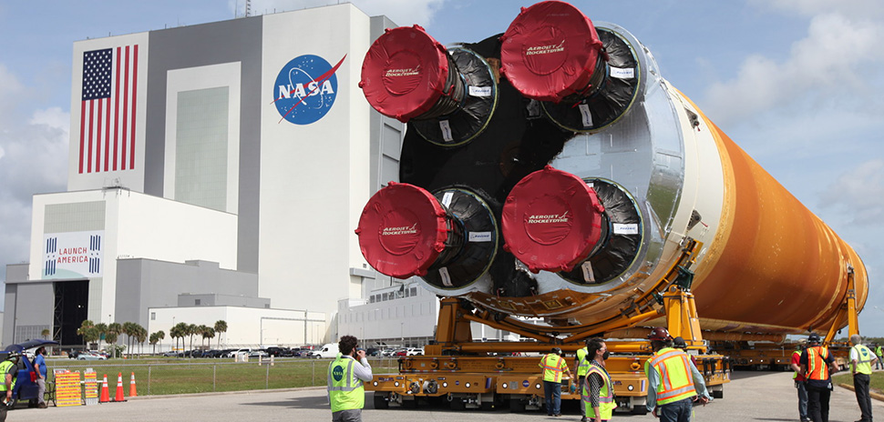Jacobs and NASA Begin Processing of Space Launch System Core Stage, Received Final Piece of Artemis I Flight Hardware